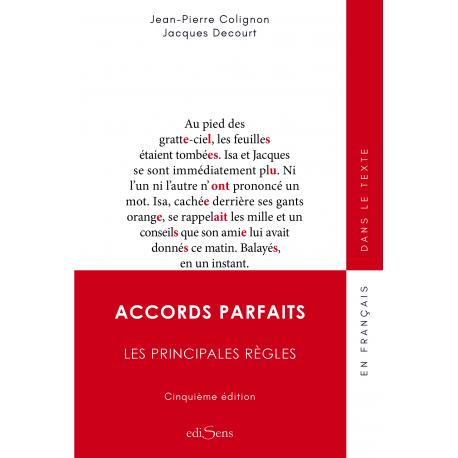 Accords parfaits - Les principales règles