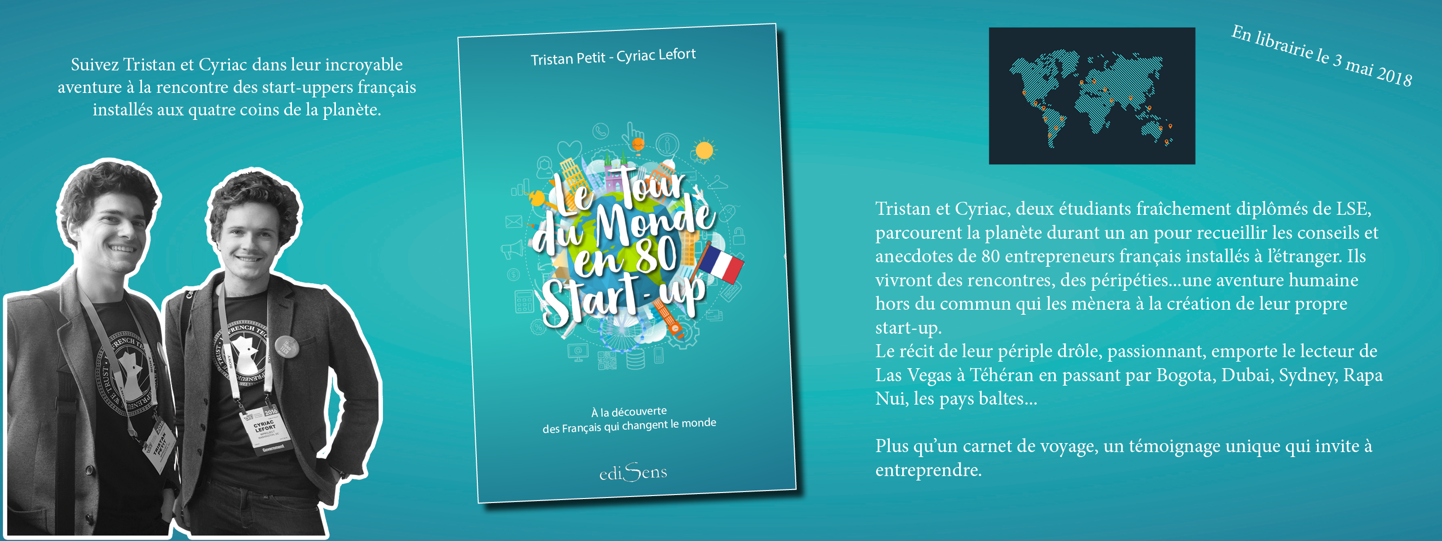 Le Tour du monde en 80 start-up, deTristan Petit et Cyriac Lefort
